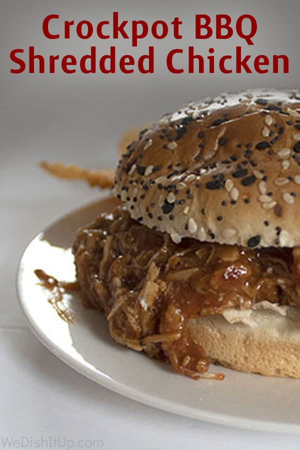 Crock Pot  BBQ Shredded Chicken Sandwich