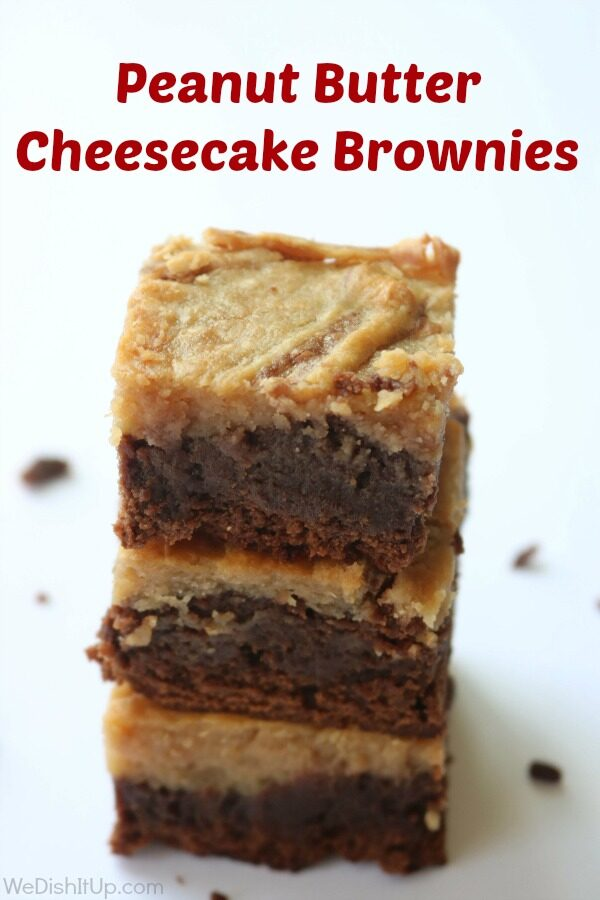 Peanut butter Cheese cake brownies