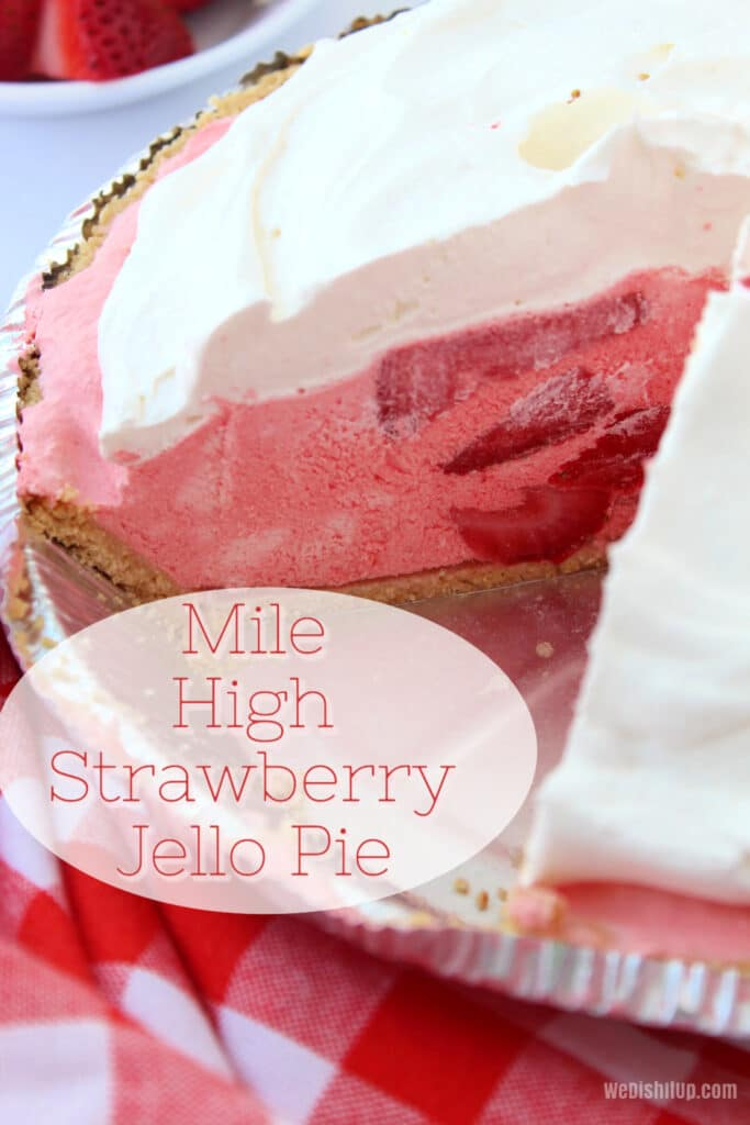 Mile High Strawberry Pie