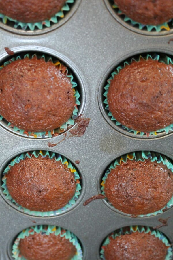 cupcakes in pan