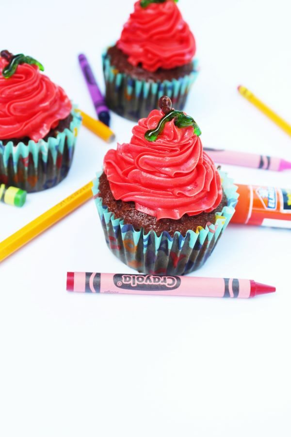 Easy Back To School Cupcakes