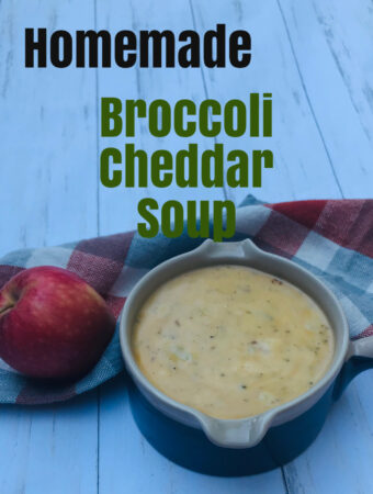 Homemade Broccoli Cheddar Soup