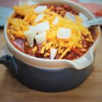 Instant Pot Chili With Cheese and Onion