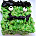 Frankenstein Rice Krispy Treat