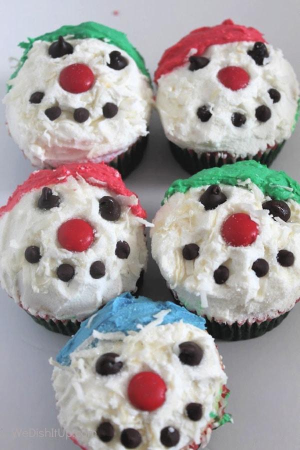 Snowman Cupcakes-