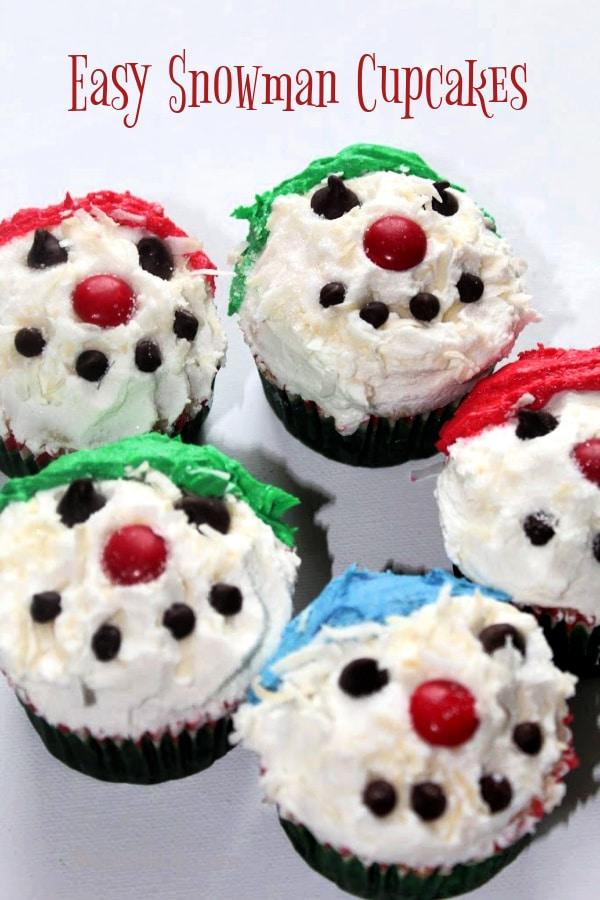 Snowman Cupcakes -5