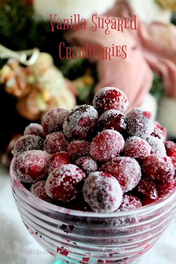 Vanilla Sugar Cranberries