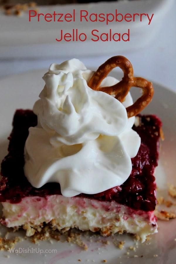 Pretzel Raspberry Jello Salad