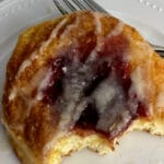 Raspberry Danish with fork