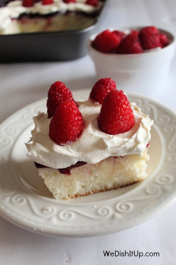Raspberry Poke Cake With Pudding