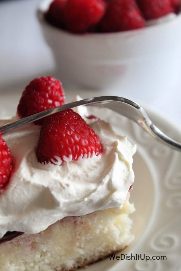 Raspberry Poke Cake With Pudding