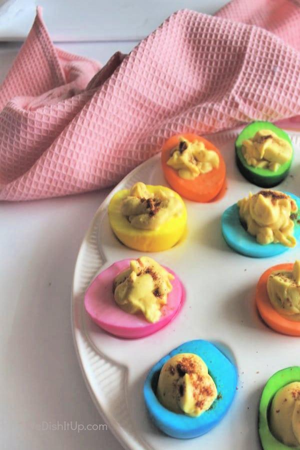 Spring Deviled Eggs