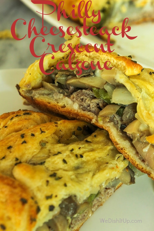 Philly Cheesesteak Crescent Calzone