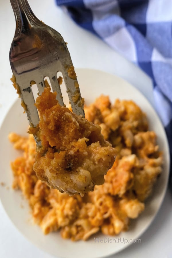 Buff Mac and Cheese on Fork