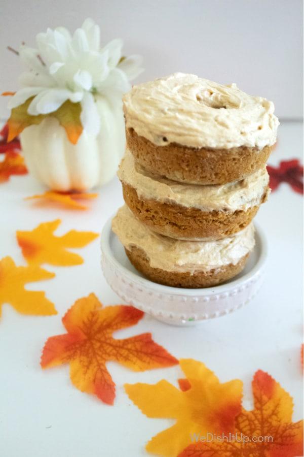 Pumpkin Spice Cake Mix Donuts