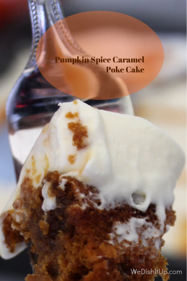 Pumpkin Spice Caramel Poke cake
