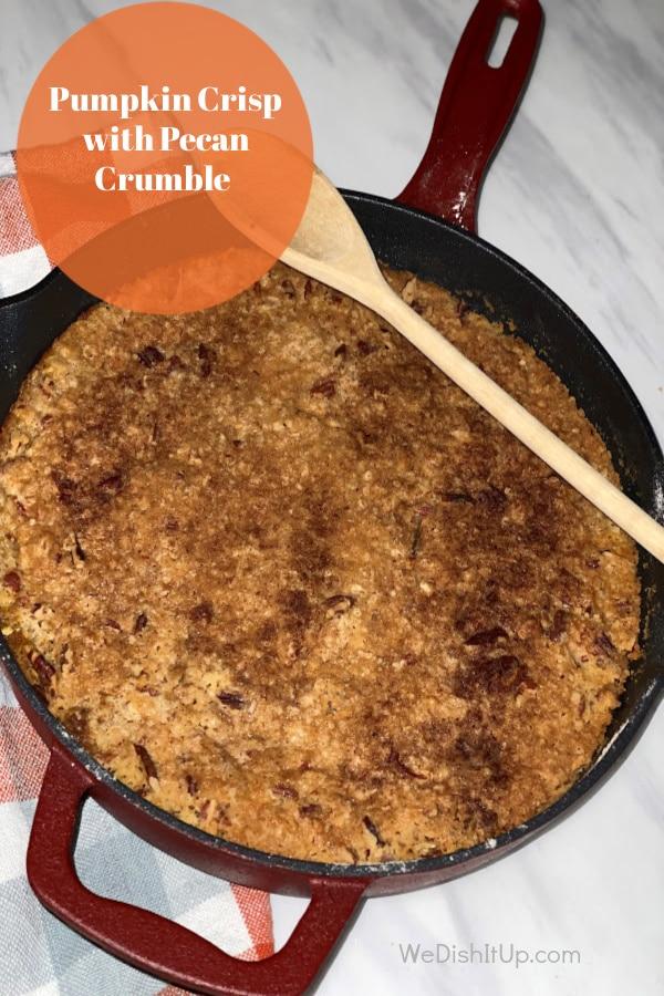 Pumpkin Crisp With Pecan Crumble