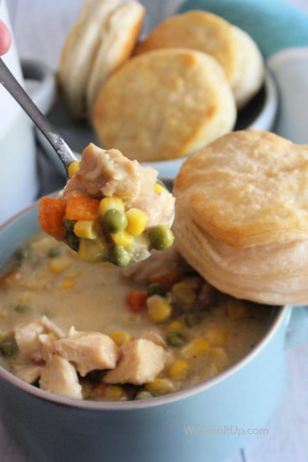 Chicken Pot pie on Spoon
