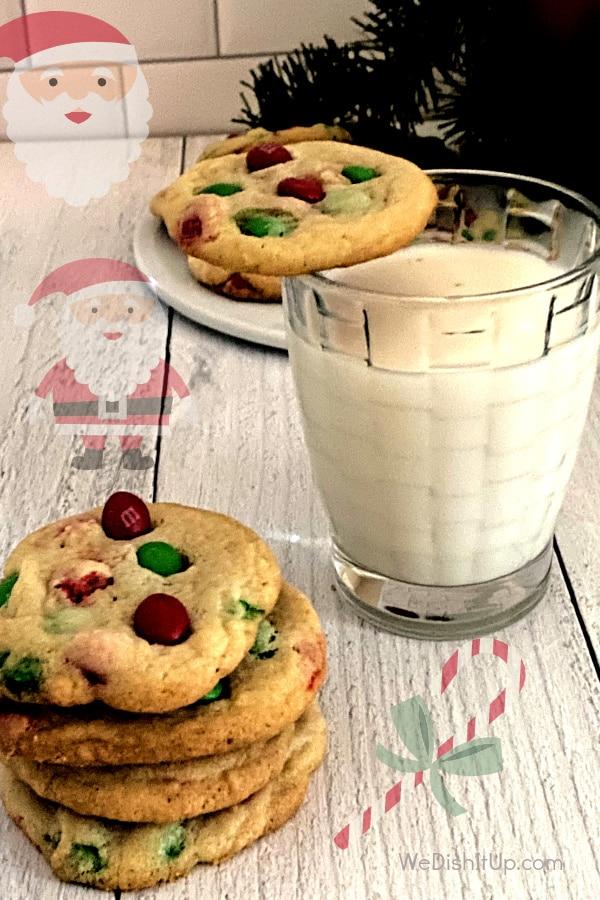 Easy M&M Christmas Cookies