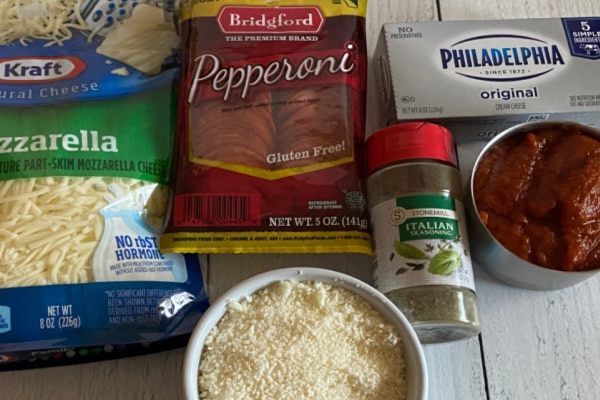 Ingredients for Pizza Dip