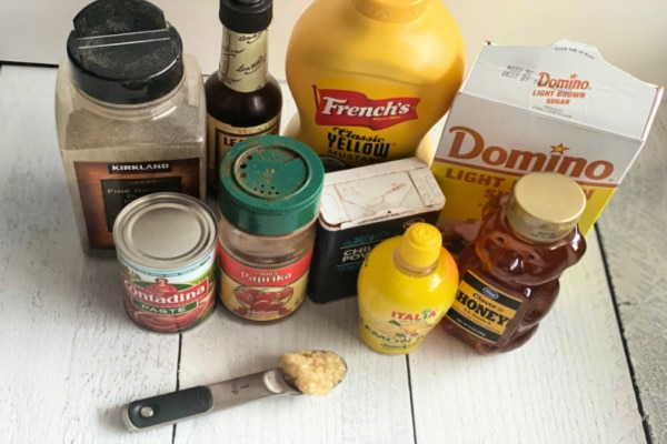 Ingredients for Sauce