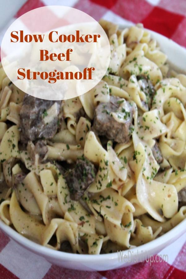 Slow Cooker Easy Beef Stroganoff