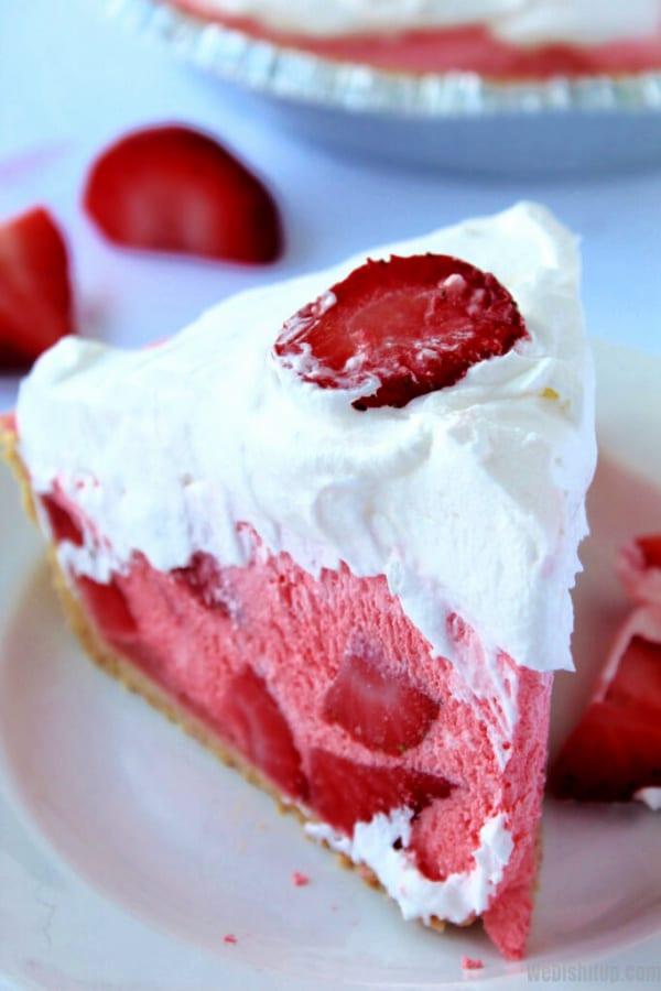Strawberry Jell-O Pie
