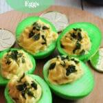 Shamrock Deviled Eggs