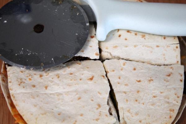 Cutting Quesadilla
