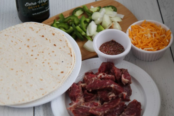 Ingredients for Quesadilla