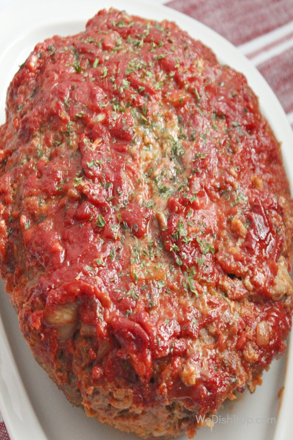 Meat loaf on plate