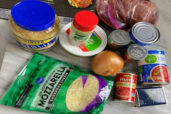 Lasagna Soup Ingredients