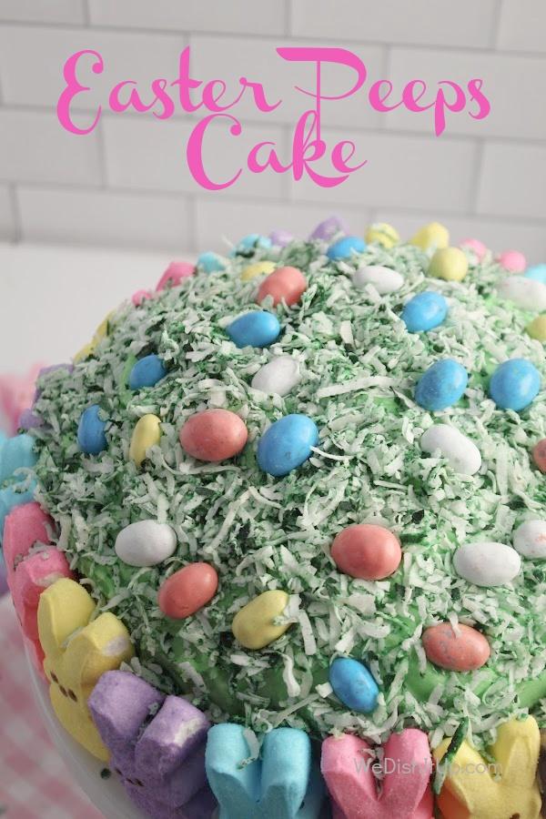 Easter Marshmallow Peeps Cake