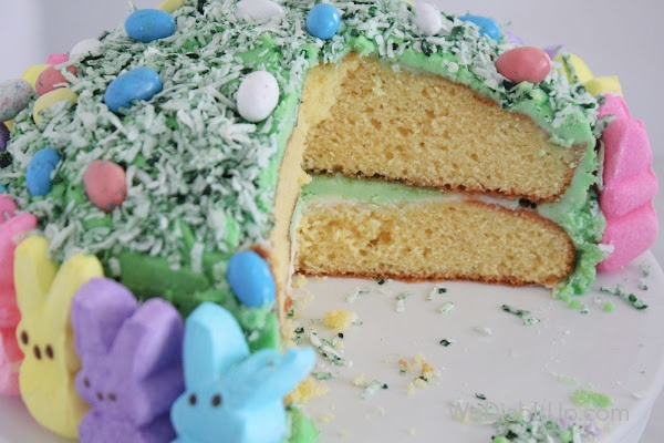 Peeps Cake Cut