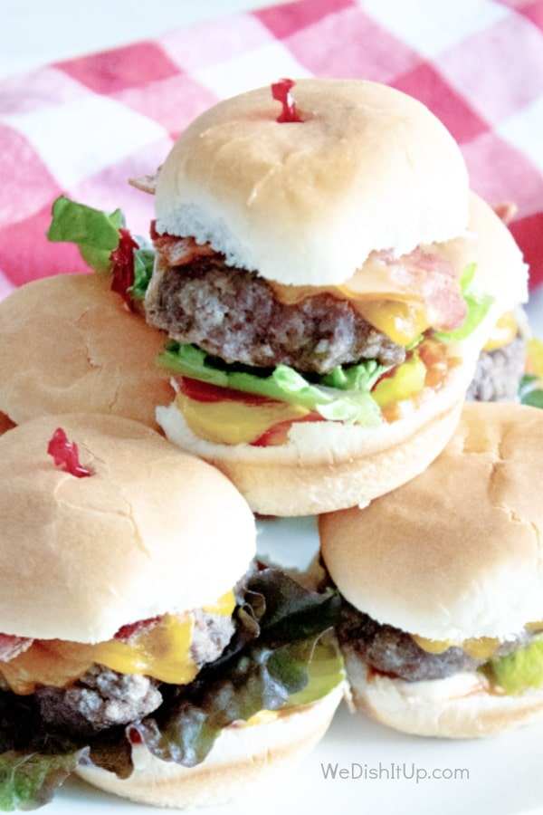 Air Fryer Cheeseburger Sliders