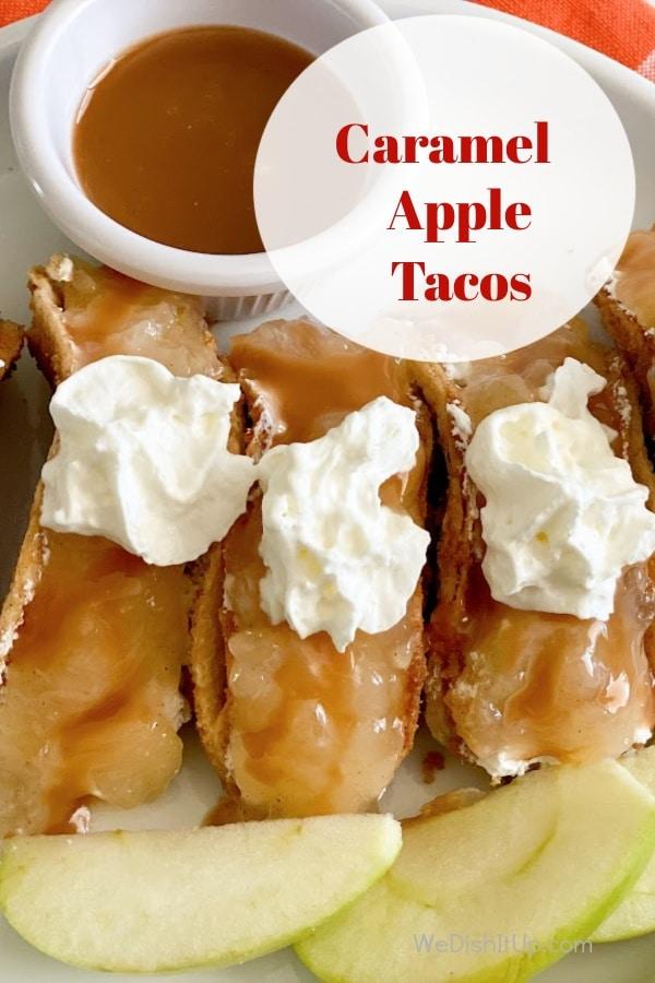 Caramel Apple Cheesecake Tacos