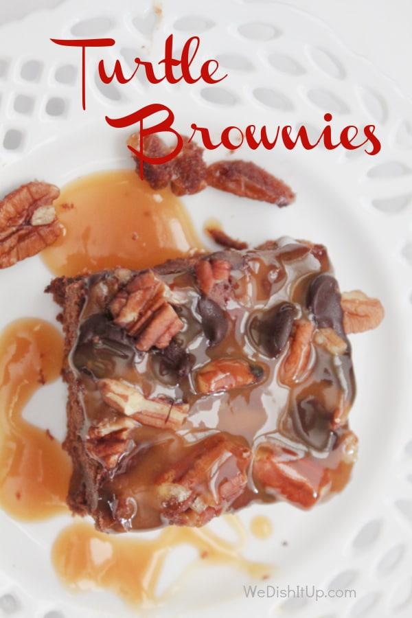 The Best Turtle Brownies