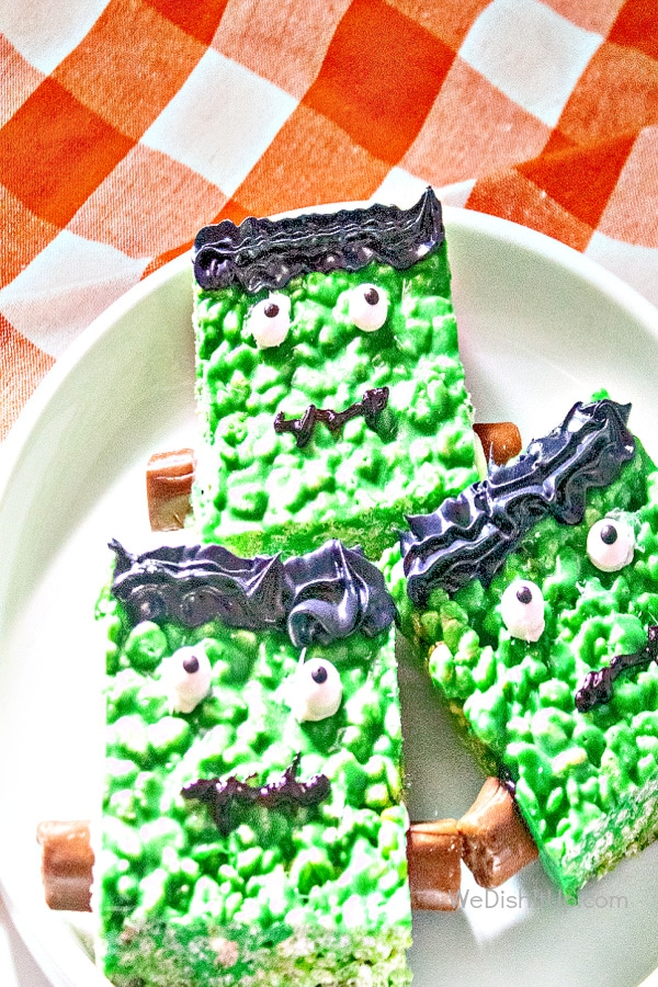Frankenstein Rice Krispy Treats