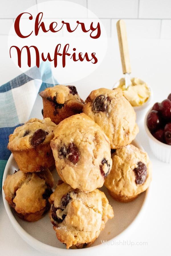 Homemade Fresh Cherry Muffin Recipe