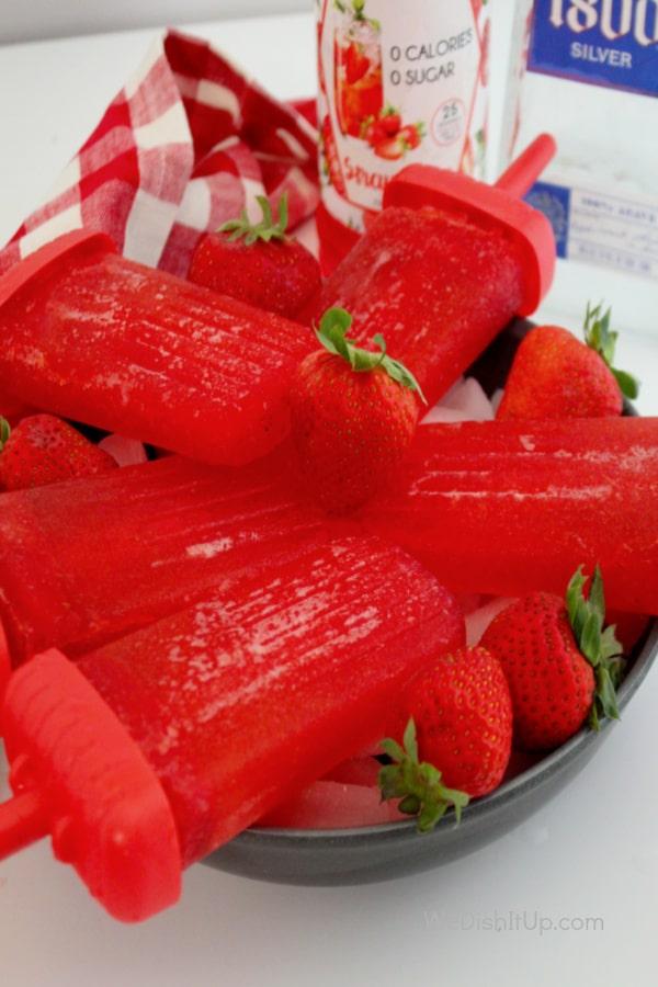 Ultimate Strawberry Margarita Popsicles