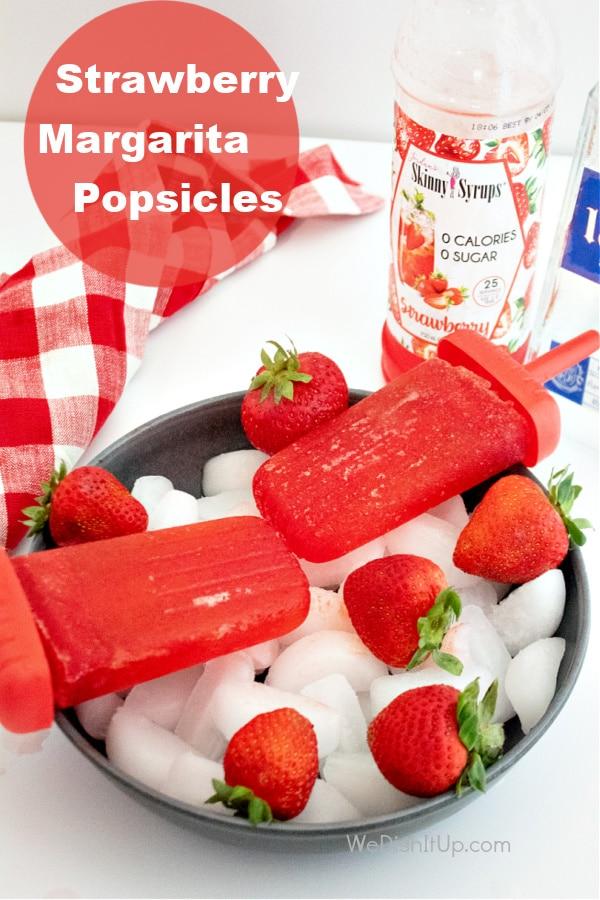 Strawberry Margarita Popsicles