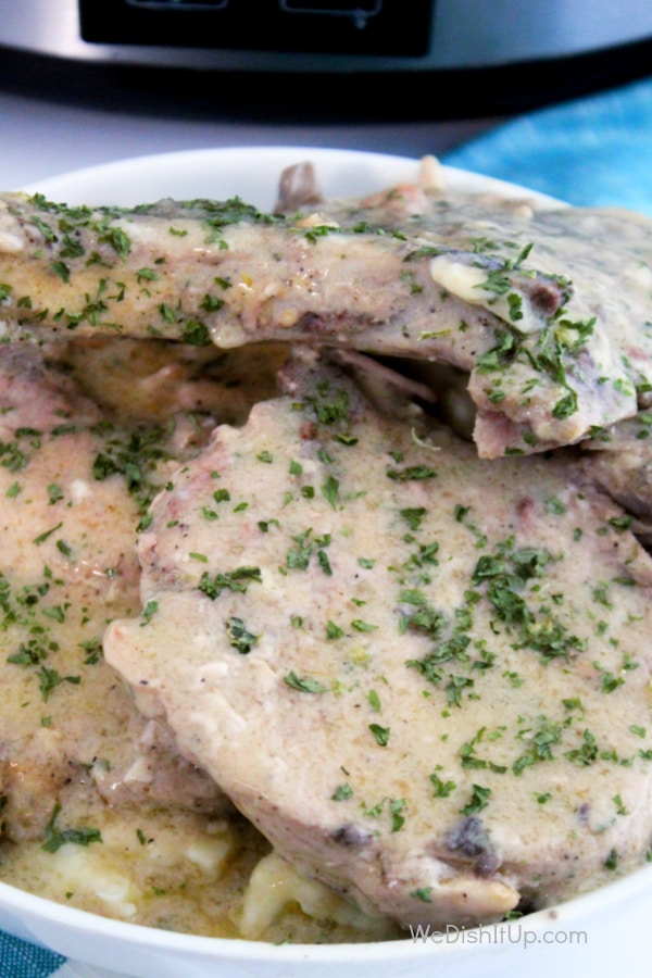 Parmesan Ranch Smothered Pork Chops